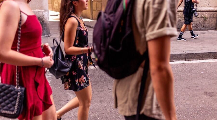 туристы Барселона